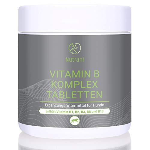 Nutrani Vitamin B Komplex Tabletten für Hunde | 120 Stück – Vitamintabletten mit wertvollen B-Vitaminen für die Unterstützung von Nervensystem, Immunsystem und Energiestoffwechsel