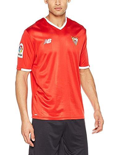 New Balance SFC MC AW Camiseta Sevilla FC 2017-2021, Hombre, Rojo (Hrd), L