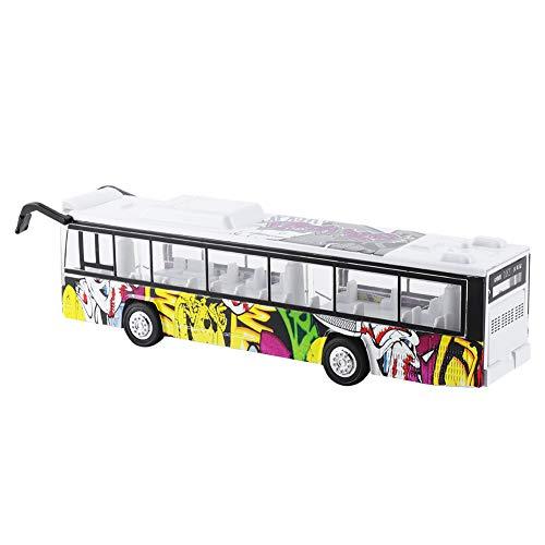 RBSD Coche de Juguete, simulación de Colores Brillantes, aleación, autobús de Juguete para niños, con luz LED para el hogar, Regalo para niños