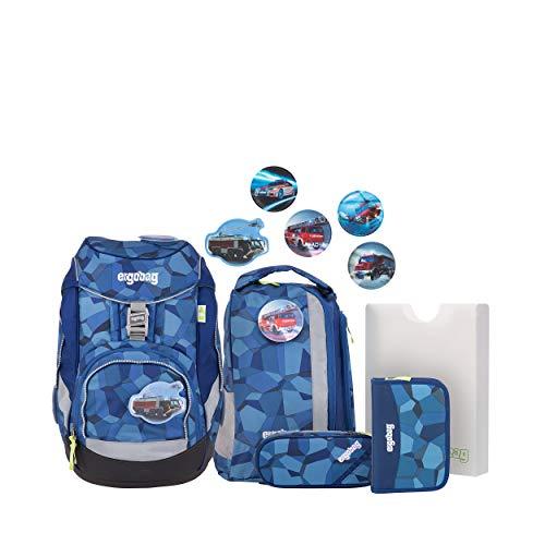 Preisvergleich Produktbild Ergobag Pack,  TatütaBär,  ergonomischer Schulrucksack,  Set 6-teilig,  20 Liter,  1.100 g,  Blau
