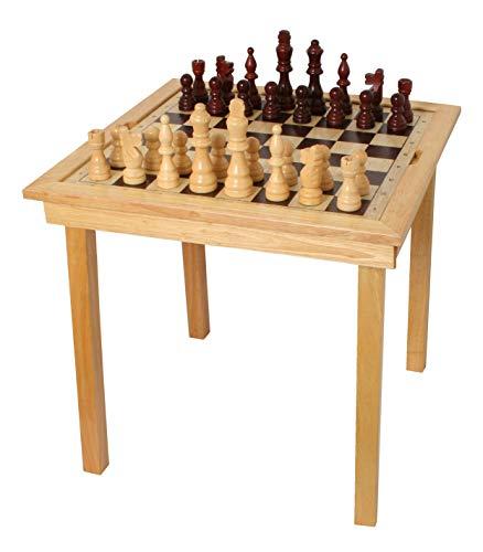 Spieltisch Schach, Dame & Ludo