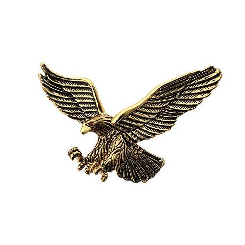 Diseño creativo Retro Metal águila pájaro Animal broche mujeres hombres solapa insignia Pin hebilla traje camisa Collar Accesorios