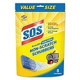 Non-Scratch Soap Scrubbers, Blue, 8/pack (1)