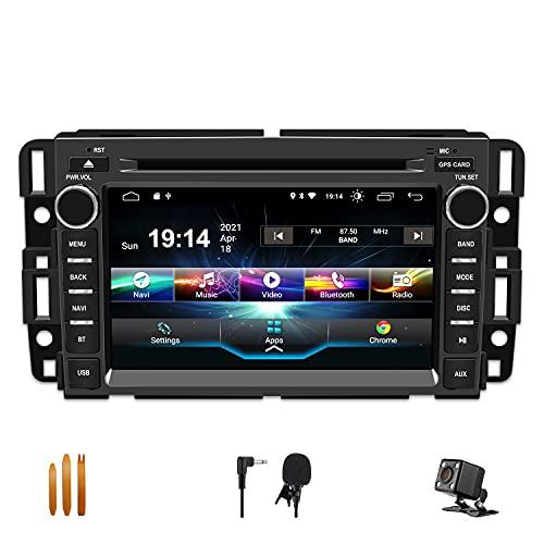 SWTNVIN Car Stereo Radio Android 10.0 DVD Player for GMC Sierra Yukon Chevrolet Buick Chevy Silverado Double Din 7 inch Multimedia Radio Navi Support WiFi BT Steering Wheel 2G RAM + 32G ROM