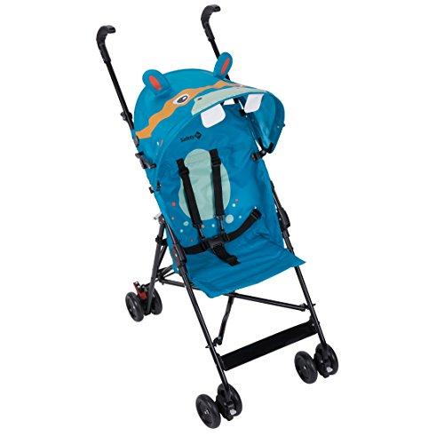 Safety 1st Crazy Peps Passeggino pieghevole, leggero con capottina, Unisex Bambini, Ippopotamo,...