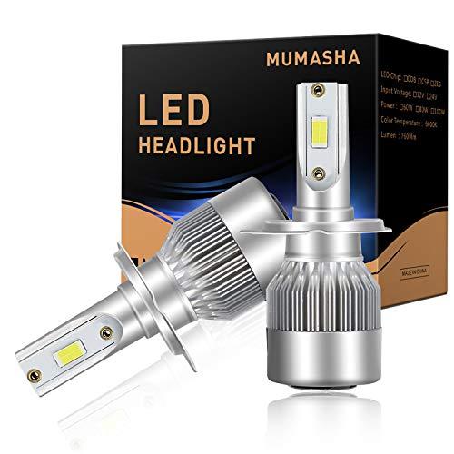 LED Headlight Bulbs H7, H7 LED headlight bulb, 10,00Lm, 6500k super white with 6pcs2 of CSP Chips per bulb IP68 Waterproof
