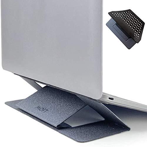 MOFT ノートPCスタンド ノートパソコンスタンド 新型 放熱排気口あるアップグレード版 [11.6インチ~15.6インチ]に対応 放熱性よく 薄くて丈夫 コンパクトで軽量 角度調整可能 パソコンに優しい(グレー)