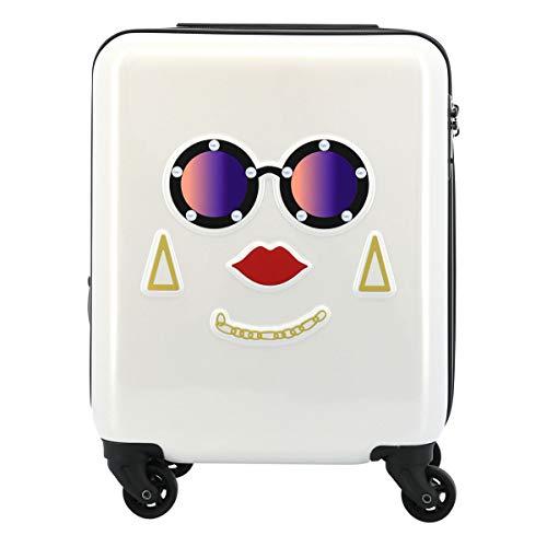 [スパイラルガール] スーツケース 機内持ち込み LCC対応 20(24)L 45.5cm 2.6kg フェイスキャリー レディース ホワイト