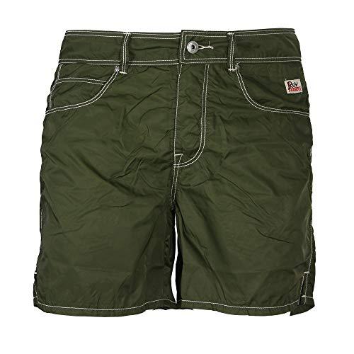 Roy Roger's - Pantaloncino Mare Uomo Beach Nylon Washed Verde - 36