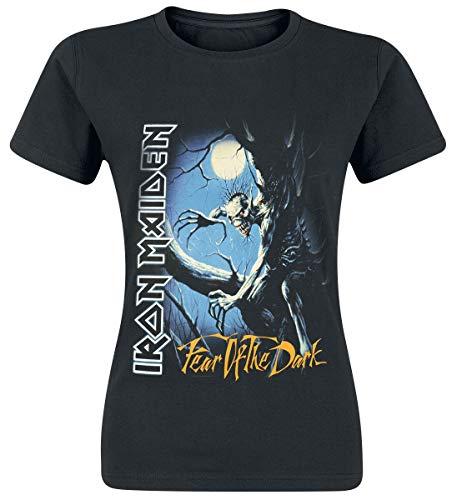 Iron Maiden Fear of The Dark Mujer Camiseta Negro M, 100% algodón, [Effekte/Besonderheiten] + Regular