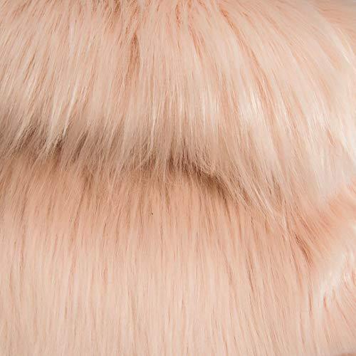 "Barcelonetta   One Yard Faux Fur   36"" X 60"" Inch   Craft Supply, Costume, Decoration (Blush)"