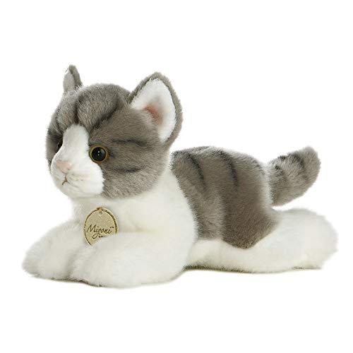 Aurora MiYoni 10813 Tabby Cat 20,3 cm Gris y Blanco, Juguete de Peluche para niños