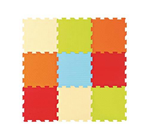 LUDI 10004 - Piastrelle In Schiuma Touch, Tinta Unita, Multicolore