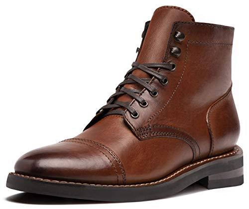 Thursday Boot Company Men's Captain Cap Toe Leather Boots, Brandy, 9.5