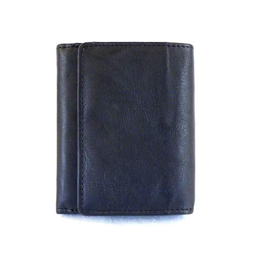 HGL Geldbörse Minibörse mit RFID Schutz Echt-Leder schwarz 14252 Kartenfächer