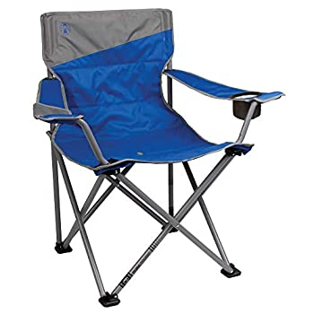 Coleman Big and Tall Camp Chair   Folding Beach Chair   Portable Quad Chair for Tailgating Camping & Outdoors