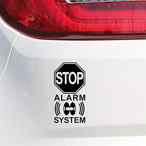 Auto Sticker 9.4Cm18Cm Waarschuwing Mark Stop Alarm Systeem Grafische Auto Sticker Auto Styling Decoratie Decals