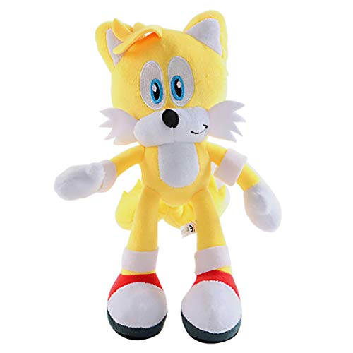 qichemaoy Classic Amy Plush Figure Toys Sonic The Hedgehog Sonic The Hedgehog Cartoon Character Plush Children's Pillow 11in (Yellow)