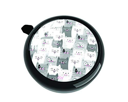 Liix Big Colour Bell Cat Crowd süße Katzen Motiv für Kinder und Erwachsene