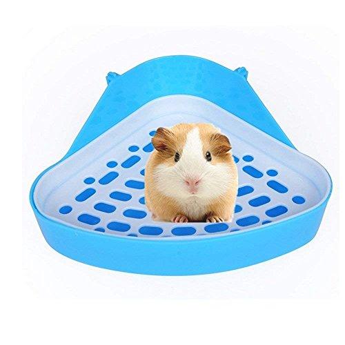 Hypeety Pet WC klein Animal Katzentoilette Ecke für Hamster Meerschweinchen Frettchen Rennmaus Chinchilla Pet Kleine Ratte WC (zufällige Farbe)