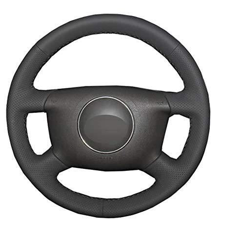 MDHANBK Funda para volante de coche cosida a mano, para Audi A2 (8Z) A3 (8L) Sprotback A4 (B5 B6) Avant A6 (C5) A8 (D2) S4