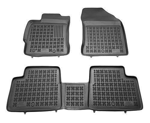 Alfombrillas de Goma Compatible con Toyota AURIS II, AURIS II Hybrid (2012-2018) + Limpiador de Plasticos (Regalo) | Accesorios Coche Alfombrilla Suelo