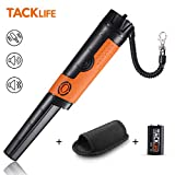 TACKLIFE Pinpointer Metal Detector Fully IP68 Waterproof with High Sensitivity, 9.8 Ft Underwater Measuring, Sound/Vibration Indication, 360° Scanning, Holster/Hanging Wire/Battery Included -MPP01