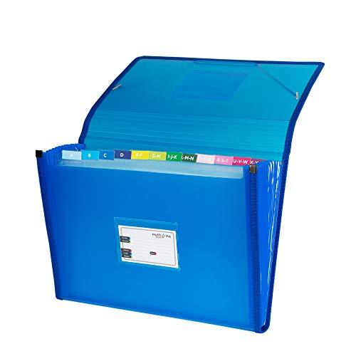 Grafoplás 02963030-Carpeta clasificadora con fuelle, tamaño folio, color azul ⭐
