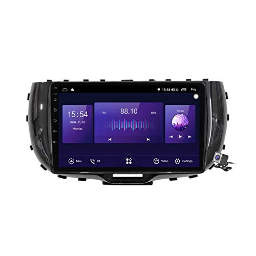 Gokiu Android 10 Car Radio de Navegación GPS para Kia Soul SK3 2019-2020 con 9 Pulgada Pantalla Táctil Support FM Am RDS DSP/MP5 Player/BT Steering Wheel Control/Carplay,7862: 6+128gb