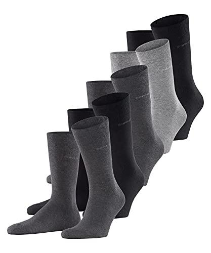 ESPRIT Herren Solid-Mix 5er Pack M SO Hausschuh-Socken, Blickdicht, Mehrfarbig (Sortiment 30), 40-46
