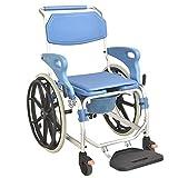 RONG HOME Silla de Ruedas Cómoda Silla de Ruedas Ducha Plegable portátil Inodoro para discapacitados Silla móvil para discapacitados Paciente Multifuncional Baños de enfermería Silla de baño