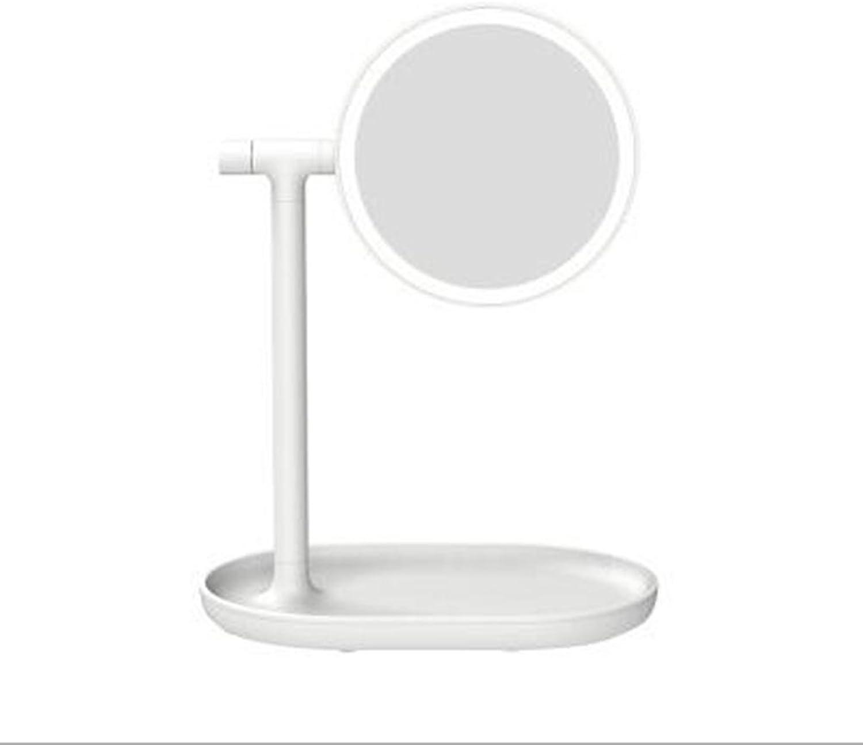 Kosmetikspiegel 2 In 1 LED TischleuchteUSB Charge Lighted Vanity Mirror, Weiß
