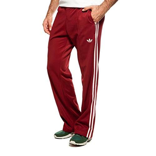 adidas Originals Beckenbauer TP Trainingshose Hose Sporthose WEINROT Bordeaux, Größe:XS, Farbe:Weinrot
