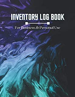 Simple Inventory Log Book For Small Business And Personal: Abstract Paint Cover 120 Pages Simple Inventory Log Book For Us...