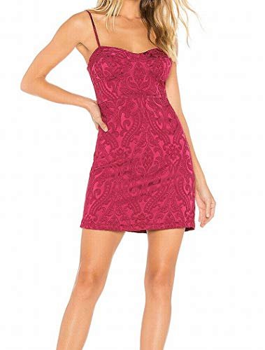 Free People Womens Karla Party Embroidered Mini Dress Pink 4