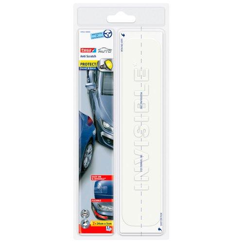 tesa autobeschermfolie voor spatborden en bumpers, 24 cm x 5 cm, 2 stuks