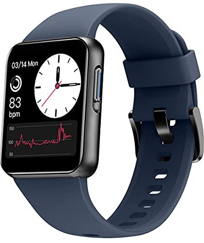 Weofly Smartwatch, Orologio Fitness Uomo Donna, Smart Watch Touch con Saturimetro(SpO2)/Cardiofrequenzimetro da Polso, Fitness Tracker Sportivo Impermeabile 5ATM Bambini Cronometro per Android iOS