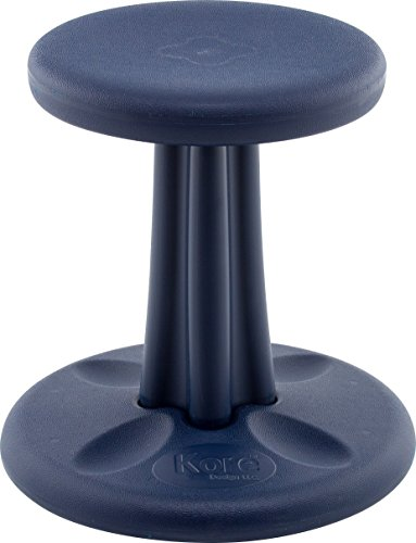 Kore Kids Wobble Chair - Flexible Seating Stool for Classroom & Elementary School, ADD/ADHD - Made in The USA - Age 6-7, Grade 1-2, Dark Blue (14in)