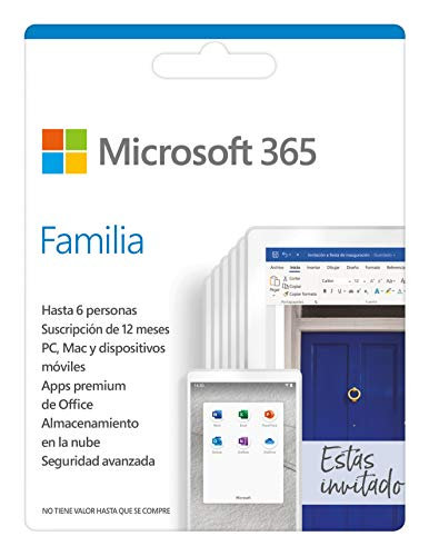 Microsoft Office 365 Maison Microsoft 6GQ-01167 (6 Licenses)