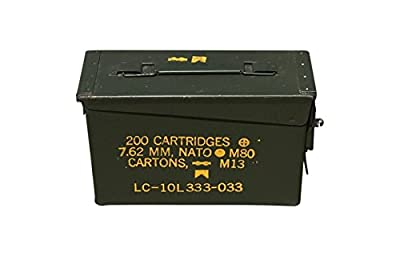 30 Cal Ammo Can with Lock kit Installed by ACM (Grade 1 30 Cal w/Locking Kit Installed)