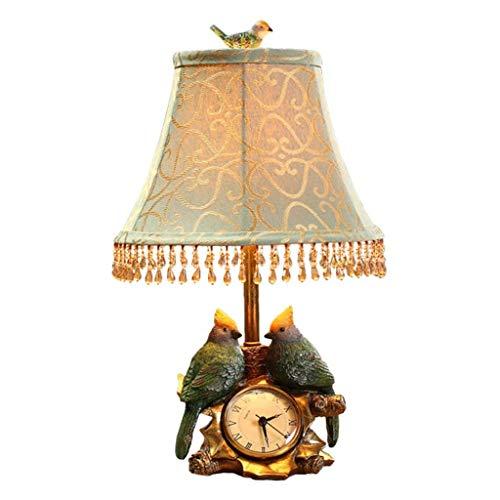 HTL Lámpara de Mesa Lámpara de Mesita de Noche Lámpara de Mesa Decorativa Moderna, Lámpara de Mesa de Reloj Creativa para Dormitorio, Sala de Estar, Lámparas de Escritorio de Oficina para Dormitorio