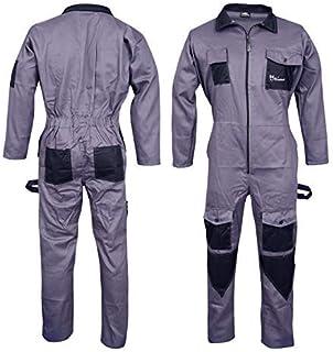 NORMAN Noir Homme Combinaisons Combinaison de Travail Global pour Entrep/ôt M/écaniciens Travail Wears
