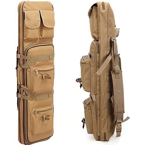 WZFANJIJ Bolsa De Arma, 2 Bolsas De Rifle Estuches TáCticos De Carabina Doble para Exteriores Estuche para Armas De Carabina Mochila TáCtica para Arma Larga para Caza Campo, Brown-1.2m