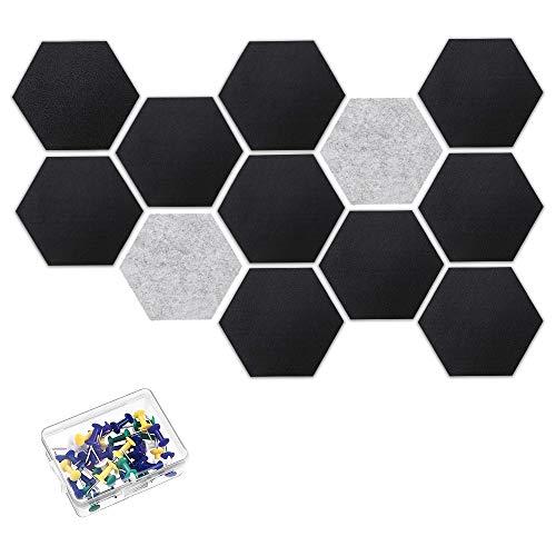 CestMall 10 Stück Pinnwand, Korkplatte Selbstklebende DIY, Korkwand Multifunktionale Anwendung für Foto hängen, Heimdekoration und Büro Memorandum, mit 20 Stück Pinnnadeln