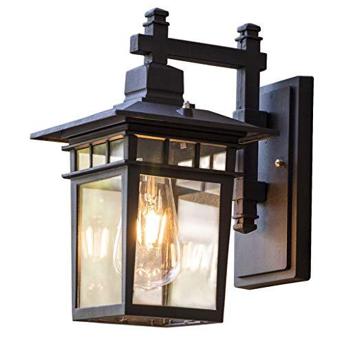 GWF Lámpara de Pared Interior Impermeable al Aire Libre de Aluminio Retro, Conveniente para la decoración del Chalet Patio Patio Balcón Pasillo Pasillo Puerta Iluminación Frontal