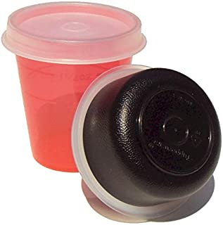 Tupperware Midget Smidgets Mini Bowls 2 Ounce and 1 oz Red and Black