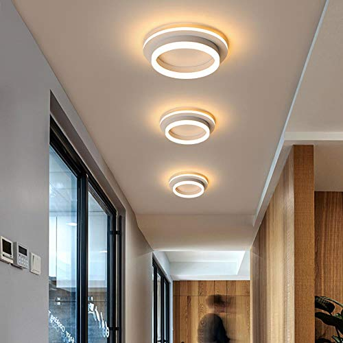 LED plafondlamp voor hal, veranda, balkon, slaapkamer, woonkamer, vierkant/rond, LED, plafondlamp, kleur: zwart, vierkant, 400 x 400 mm