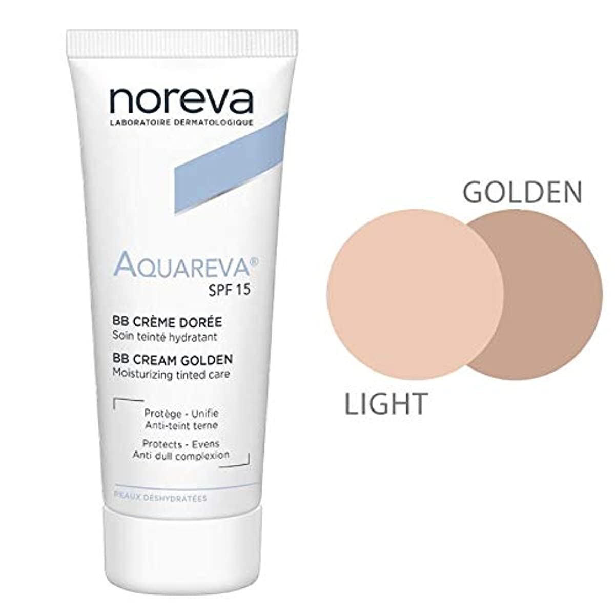 バター捨てる拡散するNoreva Aquareva Cream Bb Dor Spf15 40ml [並行輸入品]