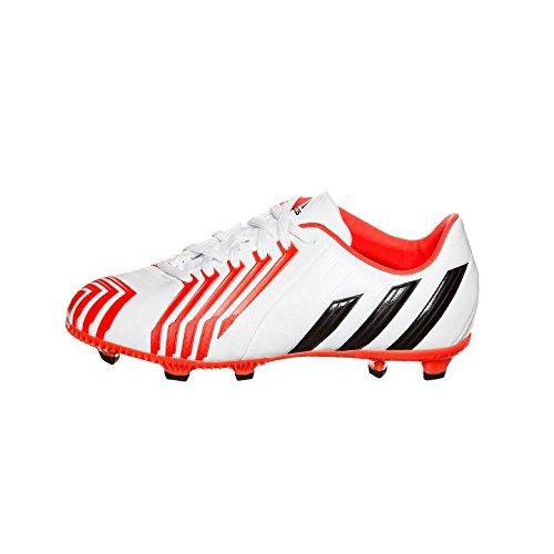 adidas Predator Absolado Instinct FG Enfants - Chaussures de Foot Blanc/Noir/Rouge Solaire - Taille 5