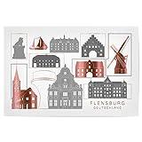 artboxONE Poster 120x80 cm Städte Flensburg Skyline